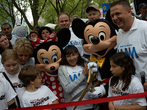 Children and Mickey at last year's Walk